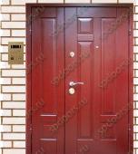 Двухстворчатая дверь МДФ с ПВХ