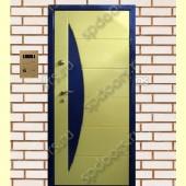 Входная металлическая дверь МДФ ПВХ SP 91-IV Комби